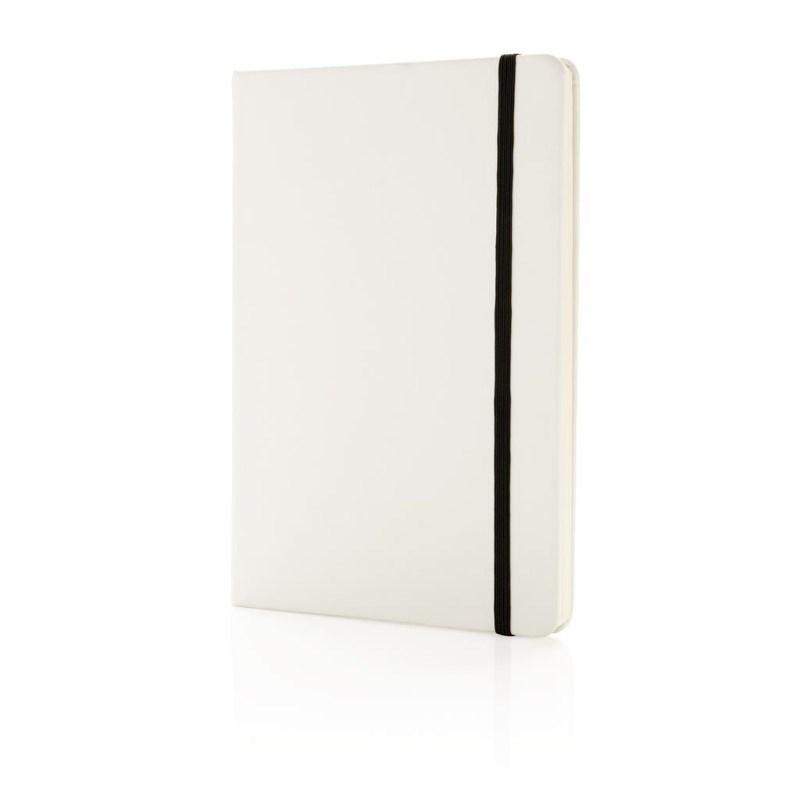 A5 standaard hardcover PU notitieboek, wit