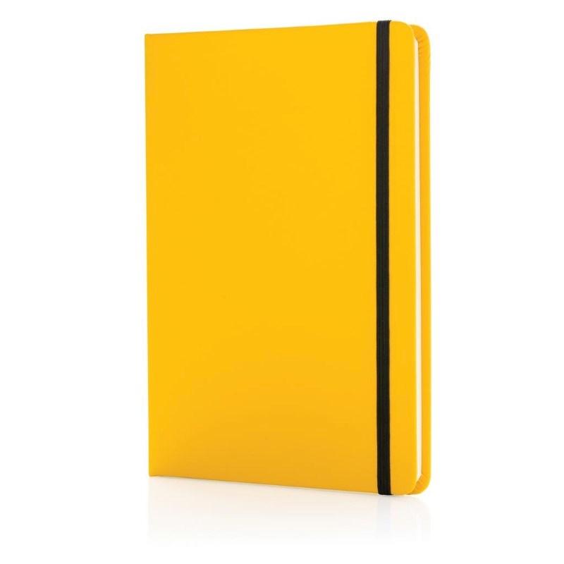 A5 standaard hardcover PU notitieboek, geel