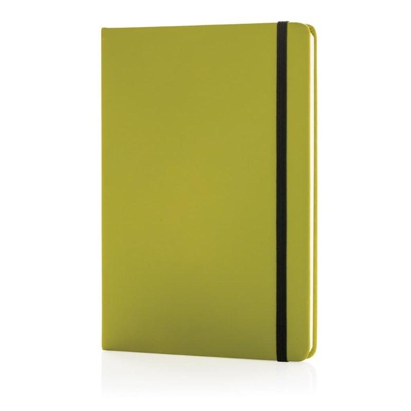 A5 standaard hardcover PU notitieboek, groen