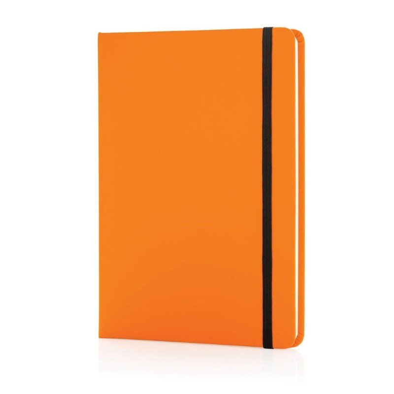 A5 standaard hardcover PU notitieboek, oranje