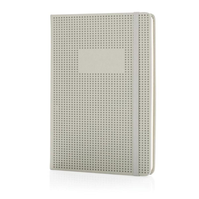 A5 Deluxe geperforeerd hardcover PU notitieboek, grijs