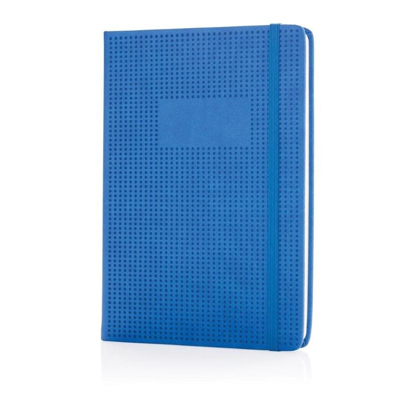 A5 Deluxe geperforeerd hardcover PU notitieboek, blauw