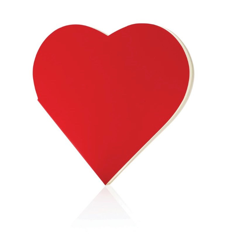 Hartvormig notitieboekje, rood