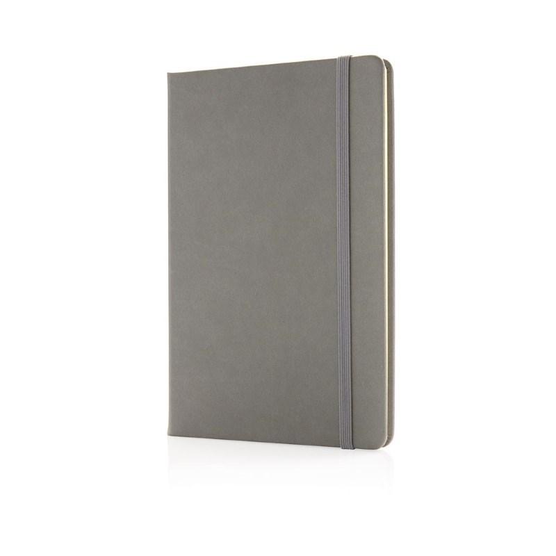Deluxe hardcover PU A5 notitieboek, grijs