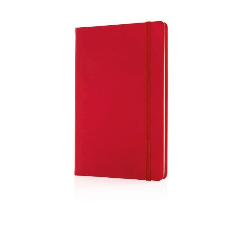 Deluxe hardcover PU A5 notitieboek, rood