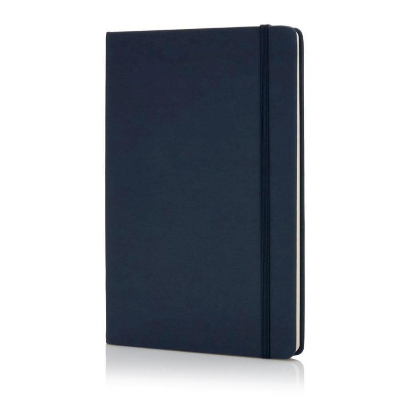 Deluxe hardcover PU A5 notitieboek, blauw