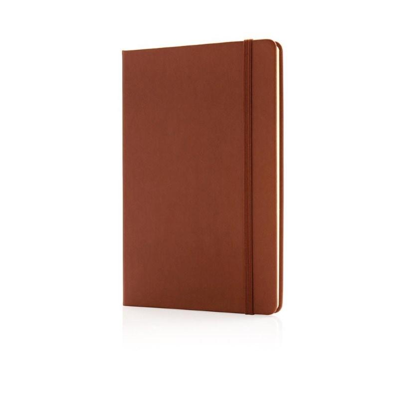 Deluxe hardcover PU A5 notitieboek, bruin