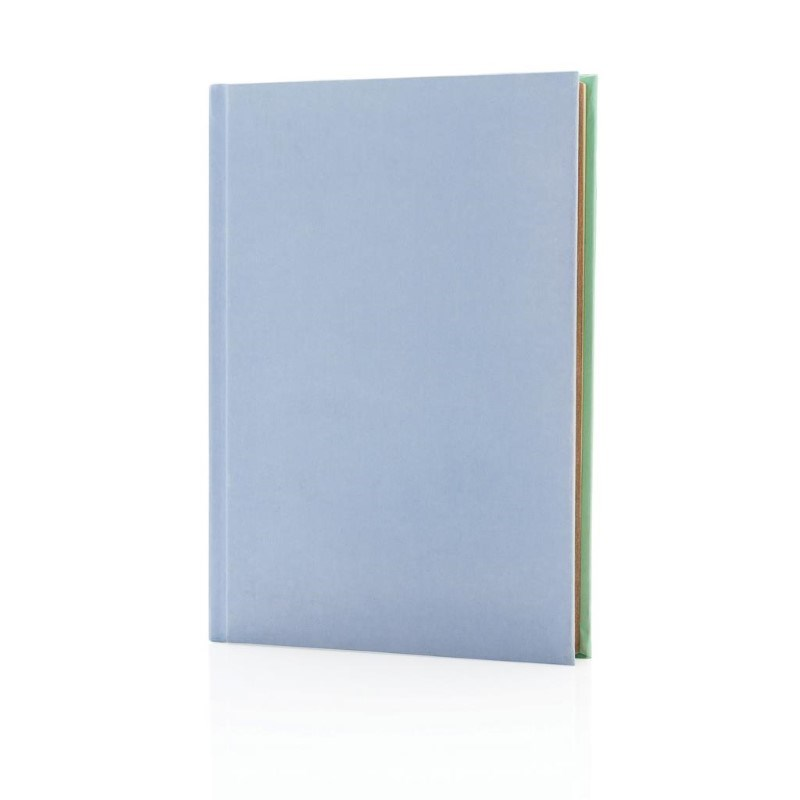 Deluxe stoffen 2-in-1 A5 notitieboek, paars