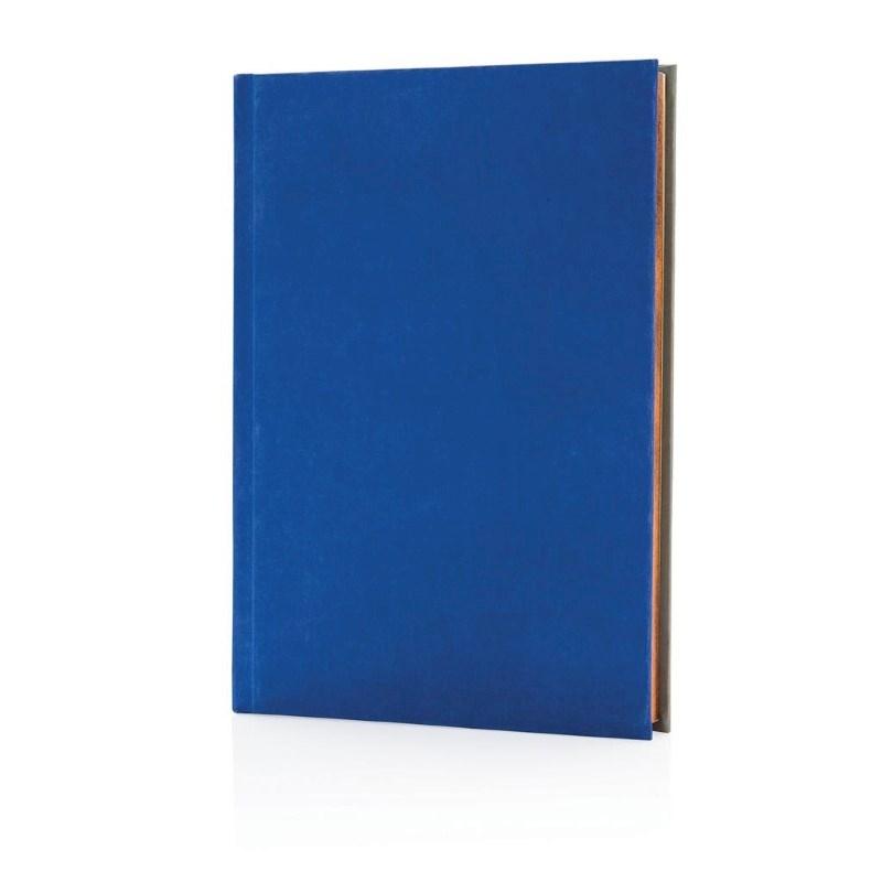 Deluxe stoffen 2-in-1 A5 notitieboek, blauw