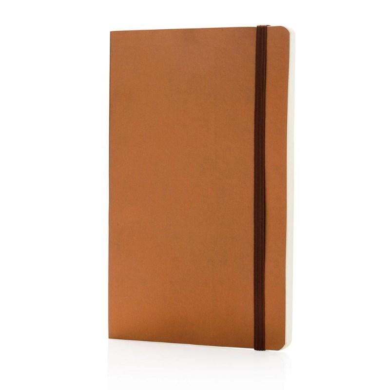 Deluxe metallic softcover notitieboek, bruin