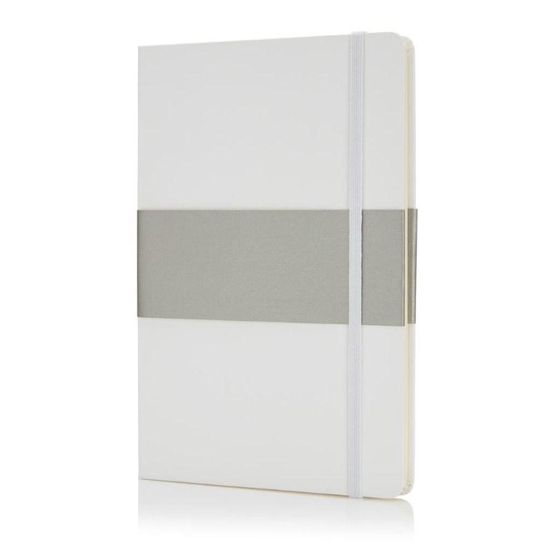 Deluxe hardcover A5 notitieboek, wit
