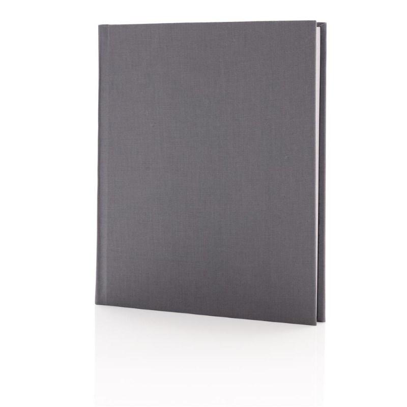 Deluxe notitieboek 170x200mm, grijs