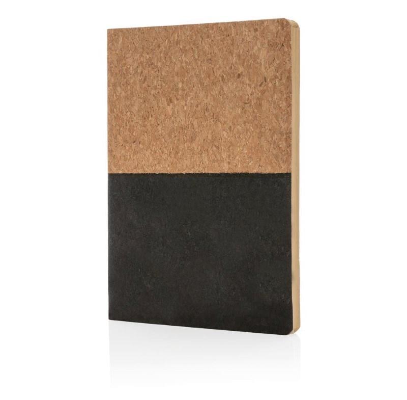 Eco kurk A5 notitieboek, zwart