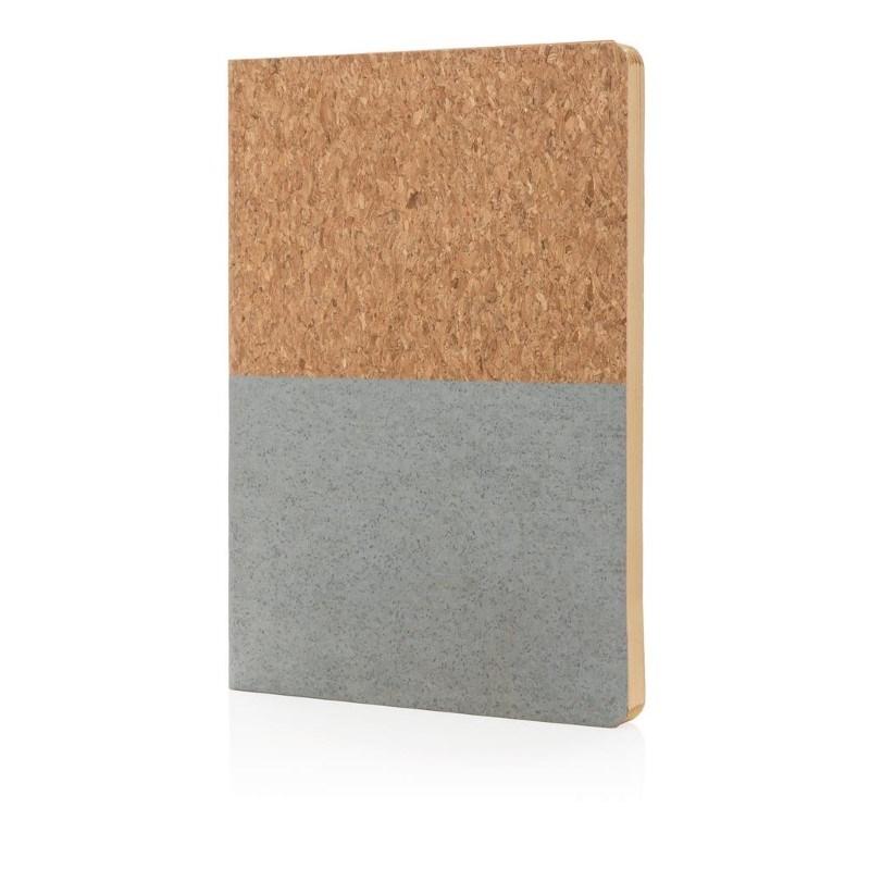 Eco kurk A5 notitieboek, grijs