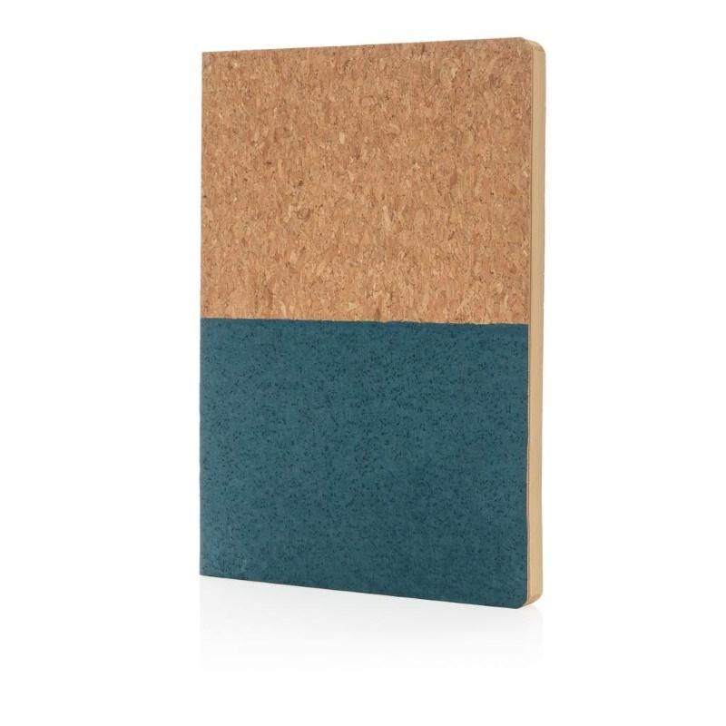 Eco kurk A5 notitieboek, blauw