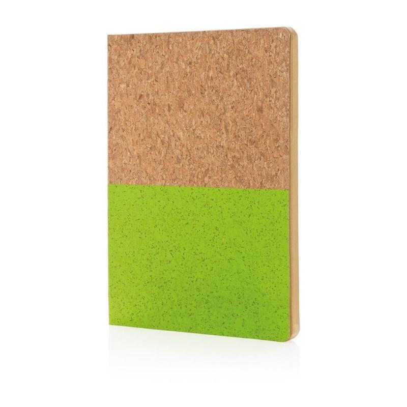 Eco kurk A5 notitieboek, groen