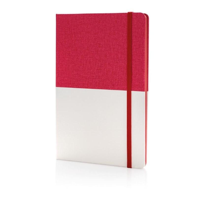 Deluxe A5 PU notitieboek, rood