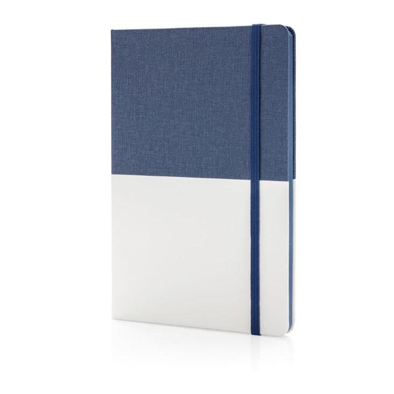 Deluxe A5 PU notitieboek, blauw