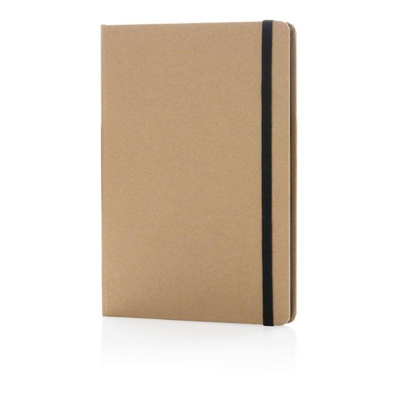 Eco-vriendelijk A5 kraft notitieboek, zwart