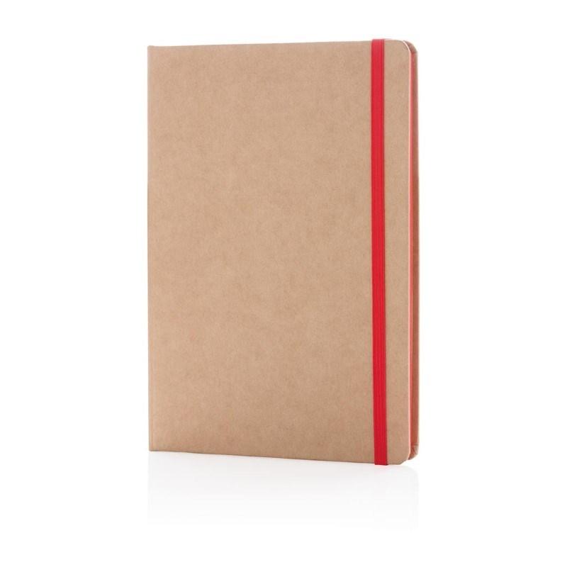 Eco-vriendelijk A5 kraft notitieboek, rood