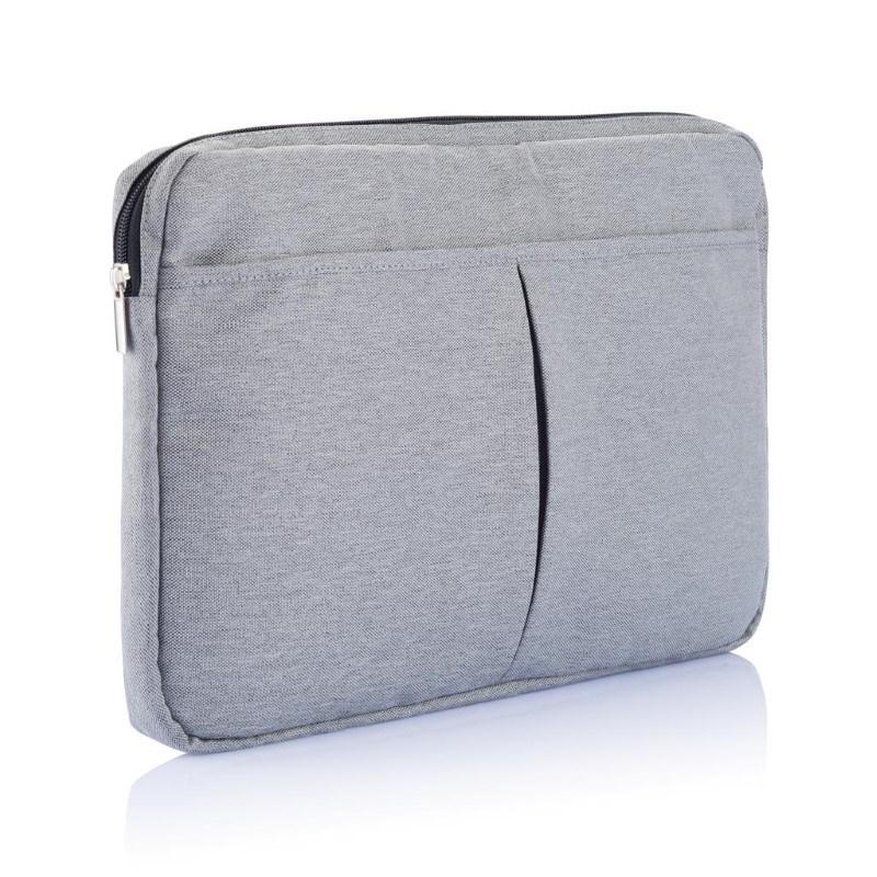 """PVC vrije laptop hoes 15"""", grijs"""