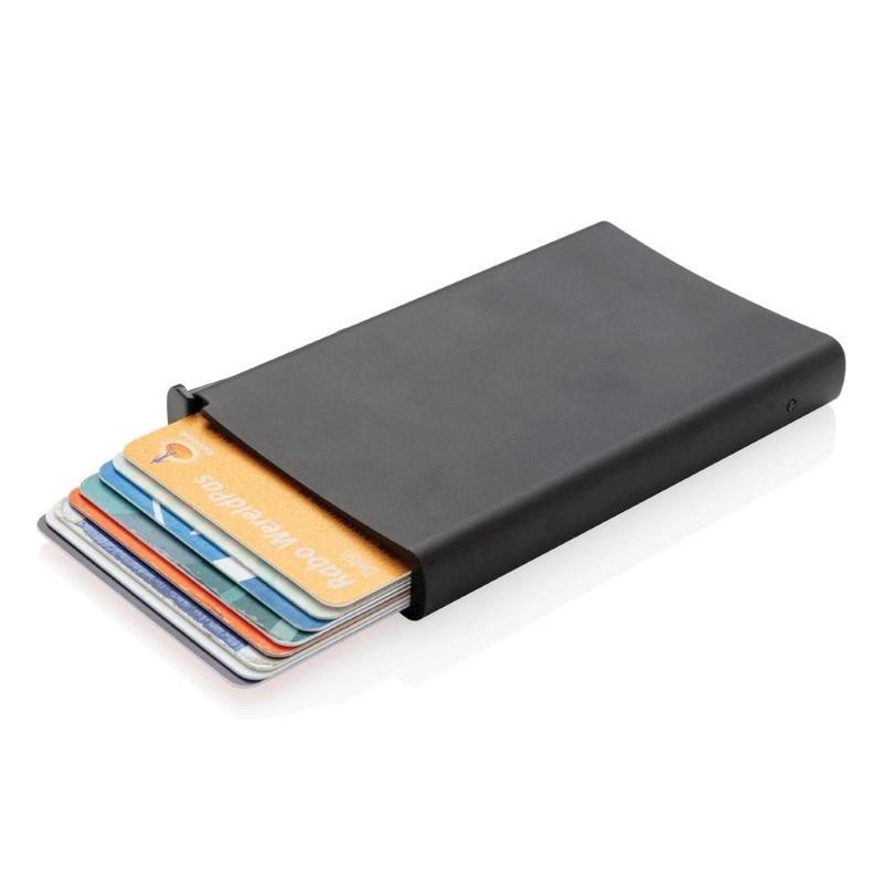Standaard aluminum RFID kaarthouder, zwart
