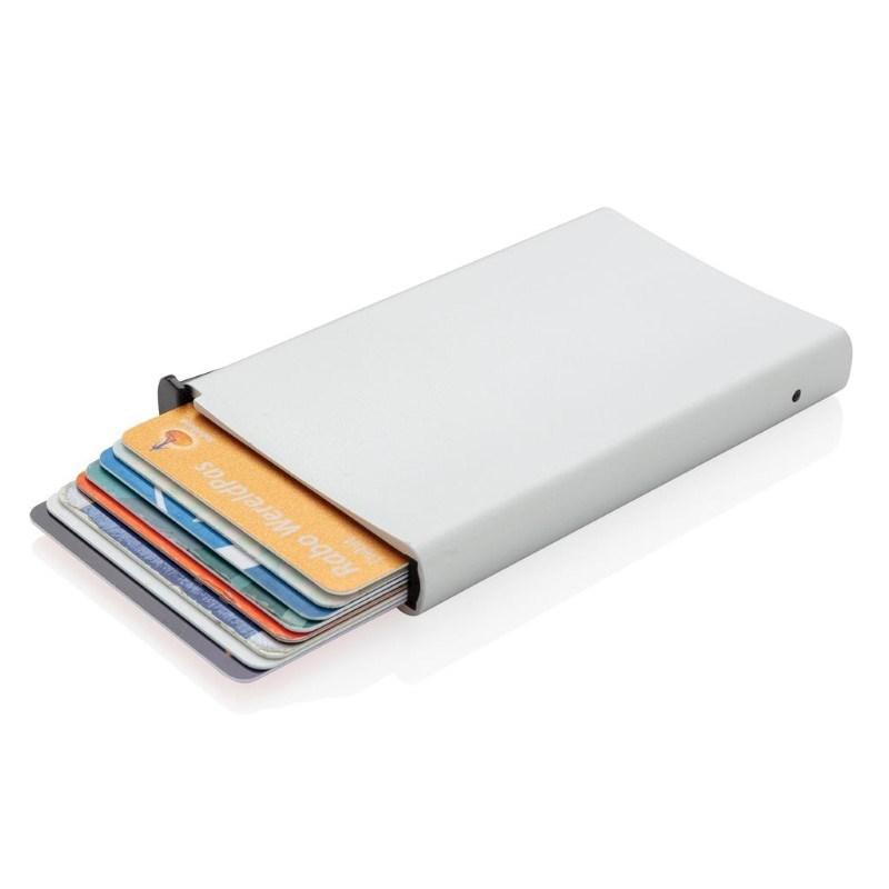 Standaard aluminum RFID kaarthouder, zilver