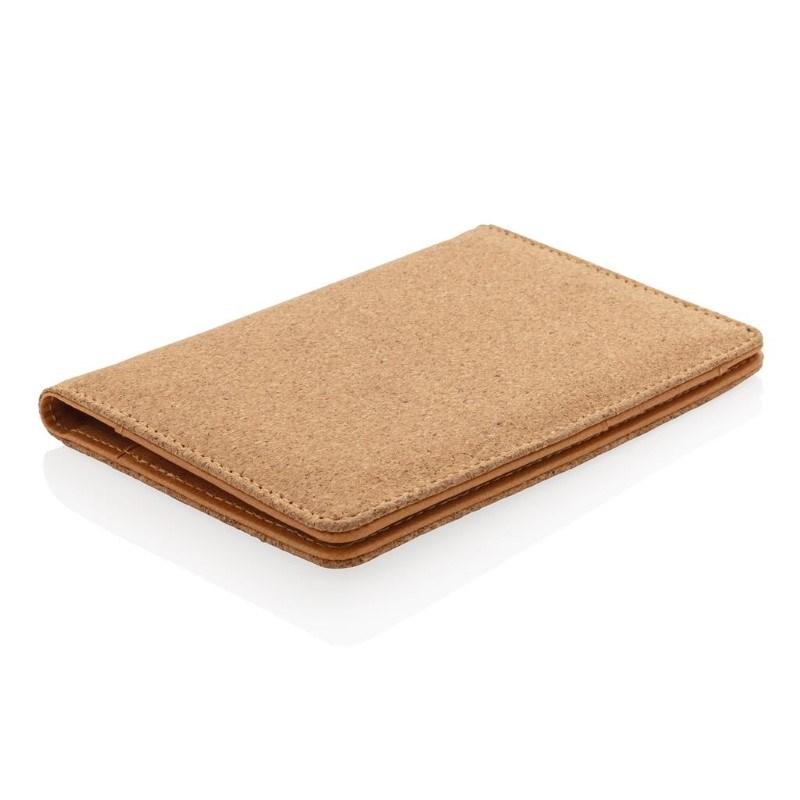 ECO kurk RFID paspoort houder, bruin