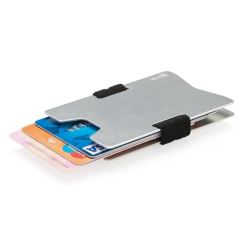 Aluminium RFID anti-skimming creditcard houder, zilverkleuri