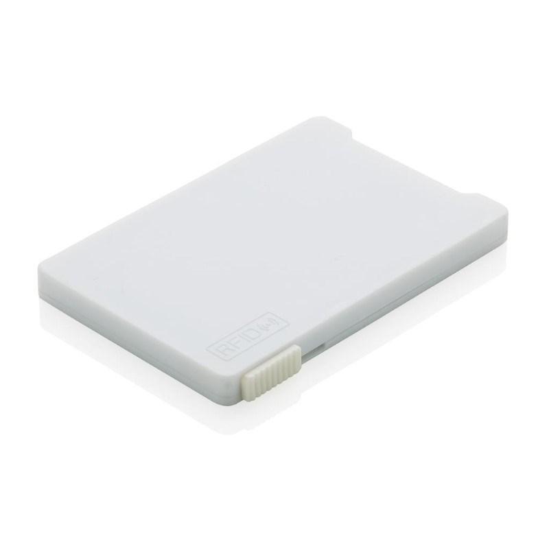 Kaarthouder met RFID anti-skimming, wit