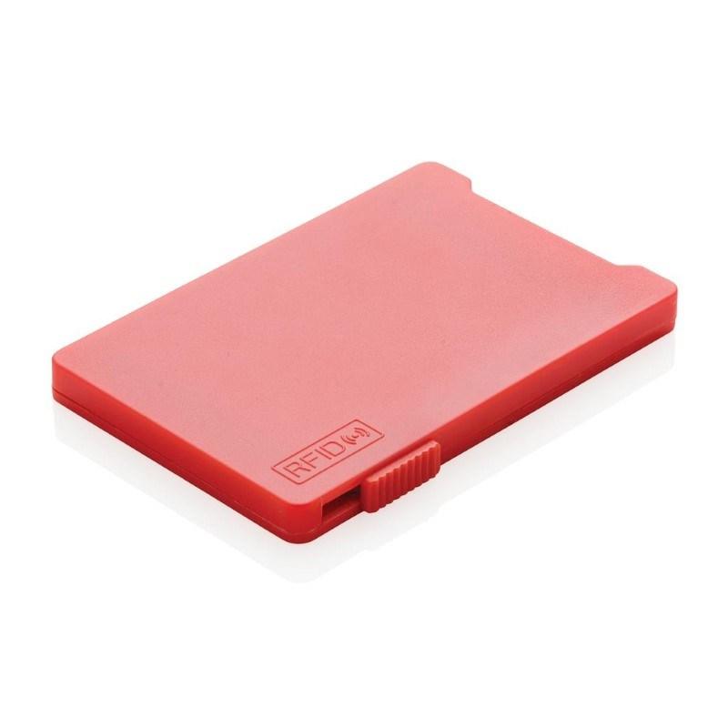 Kaarthouder met RFID anti-skimming, rood