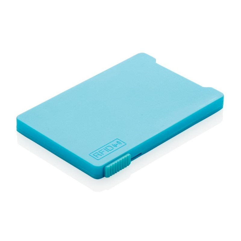 Kaarthouder met RFID anti-skimming, blauw