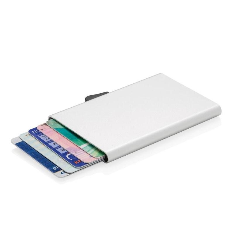 C-Secure aluminium RFID kaarthouder, zilver