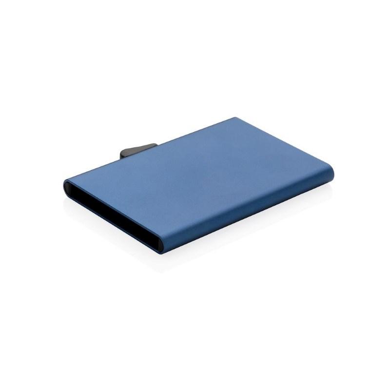 C-Secure aluminium RFID kaarthouder, blauw