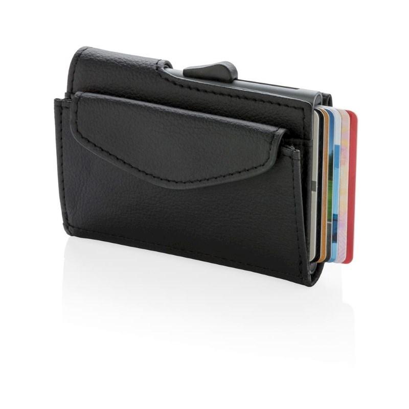 C-Secure RFID kaarthouder & portemonnee met muntvakje, zwart