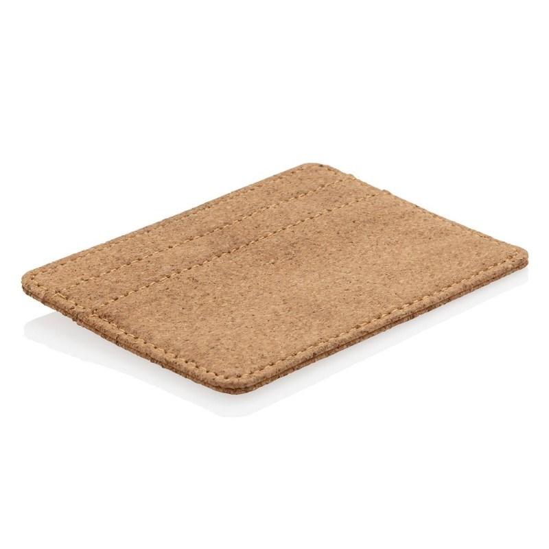 ECO kurk RFID mini portemonnee, bruin