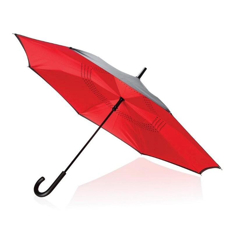 """23"""" handmatig reversible paraplu, rood"""