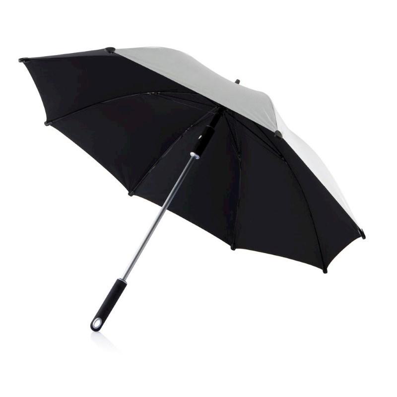 "23"" Hurricane paraplu, zilverkleurig"