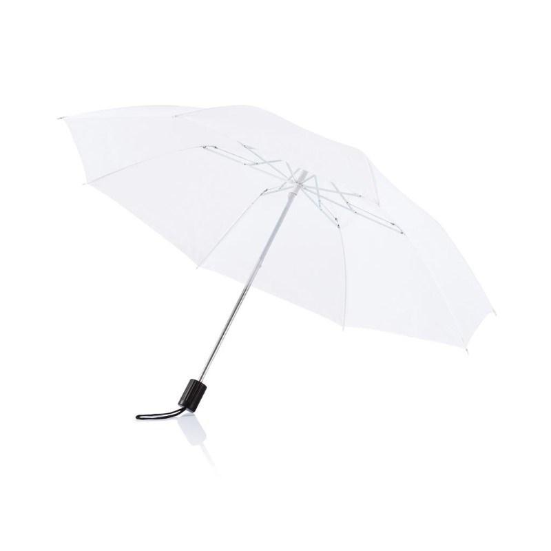 "Deluxe 20"" opvouwbare paraplu, wit"