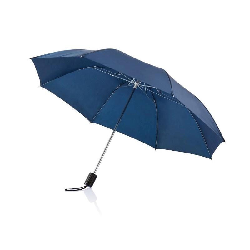 "Deluxe 20"" opvouwbare paraplu, blauw"