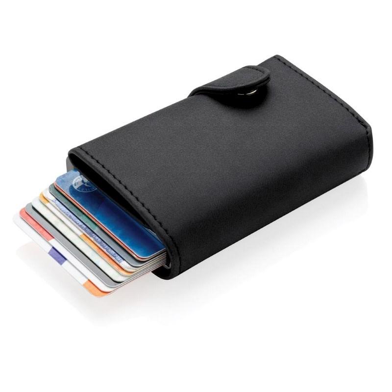 Standaard aluminium RFID kaarthouder met PU portemonnee, zwa