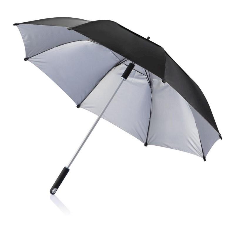 "27"" Hurricane storm paraplu, zwart"