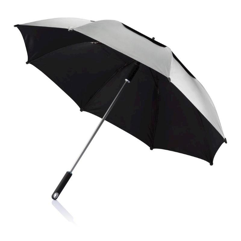 "27"" Hurricane storm paraplu, grijs"