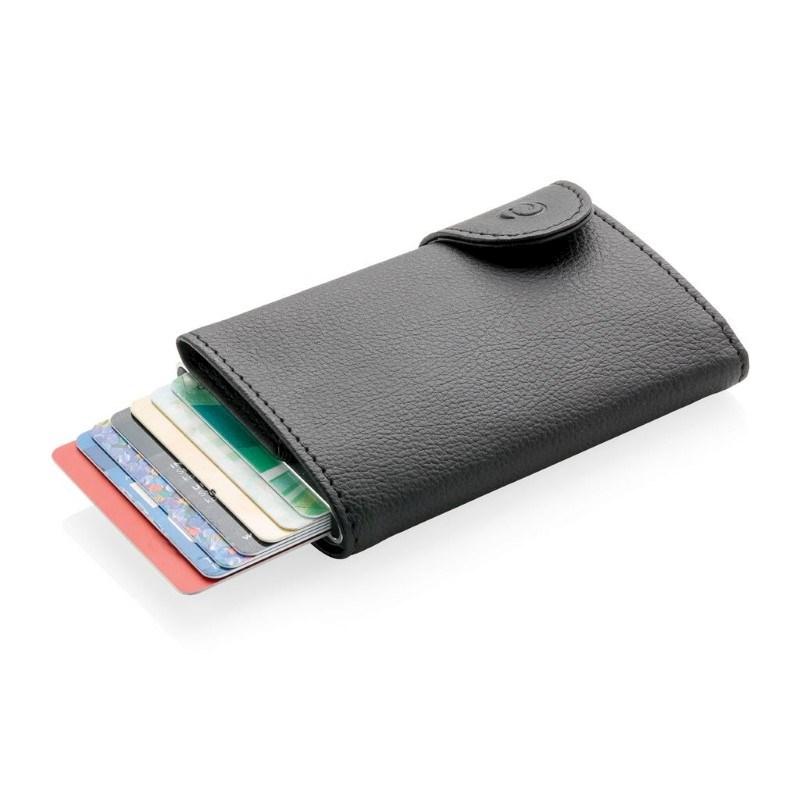 C-Secure aluminium RFID kaarthouder & portemonnee, zwart