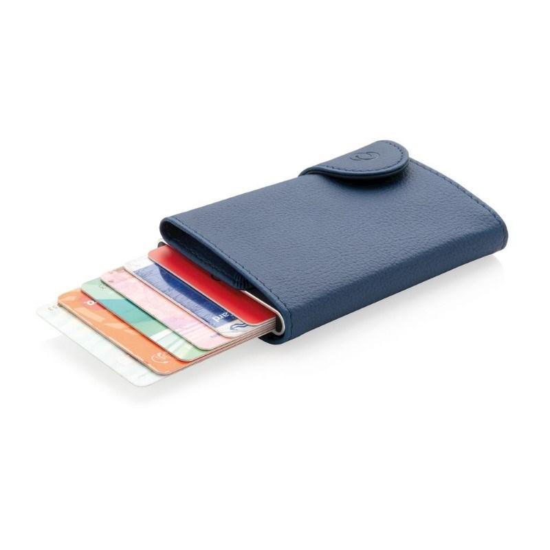 C-Secure aluminium RFID kaarthouder & portemonnee, blauw