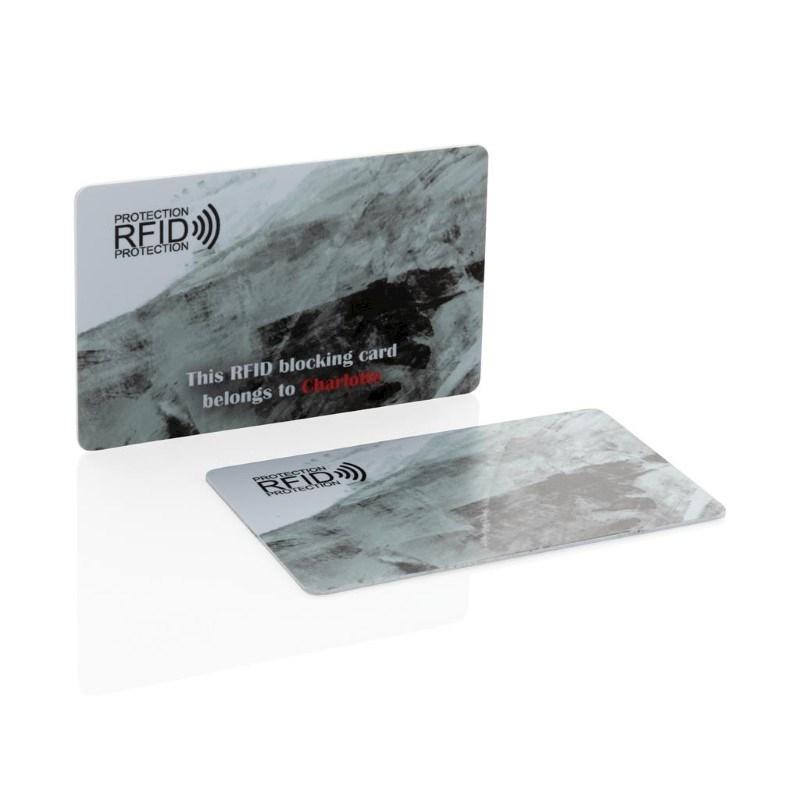 Bedrukt monster Anti-skimming beschermkaart, wit