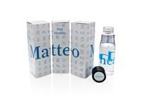 Bedrukt monster Aqua hydratatie tritan fles, blauw
