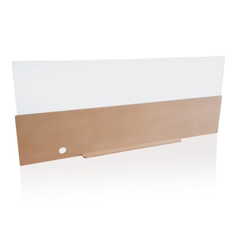 Safety front desk panel 140cm, bruin