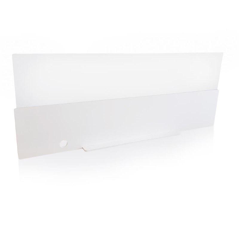 Safety front desk panel 140cm, wit